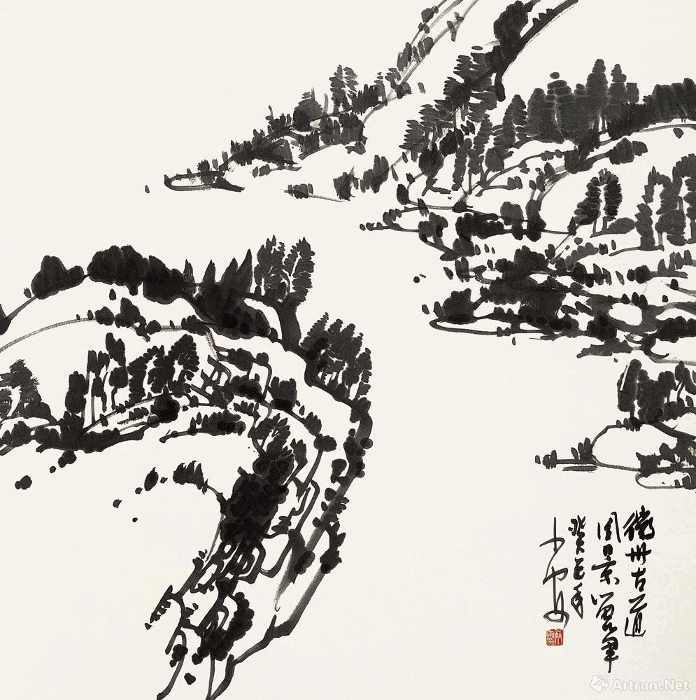 徽州古道风景留笔-中国书画/国画/国画-名家罗小安